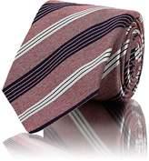 Kiton Men's Silk-Cotton Repp Necktie