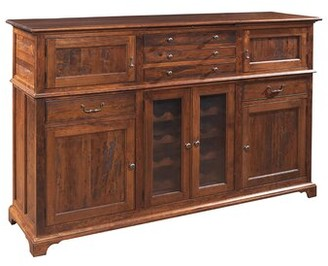 "MacKenzie-Dow 74"" Wide 5 Drawer Cherry Wood Sideboard Color: Acanthus"