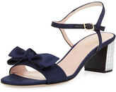 Kate Spade Monne Too Satin Bow Sandal, Navy