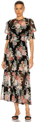 Alice McCall Pretty Things Midi Dress in Black | FWRD