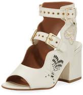 Laurence Dacade Noe Beaded Two-Strap Sandal, White