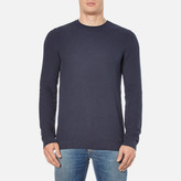 Hugo Sorito Textured Crew Neck Knitted Jumper Navy