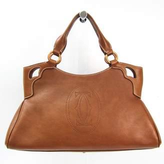 Cartier C Brown Leather Handbags