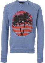 DSQUARED2 palm tree sweatshirt