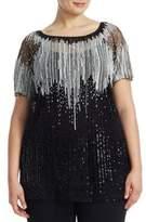 Marina Rinaldi, Plus Size Fama Beaded Tulle Tunic
