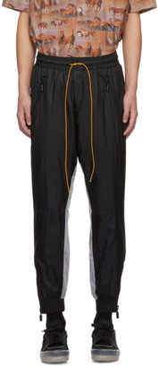 Rhude Black and Silver Reflective Flight Lounge Pants