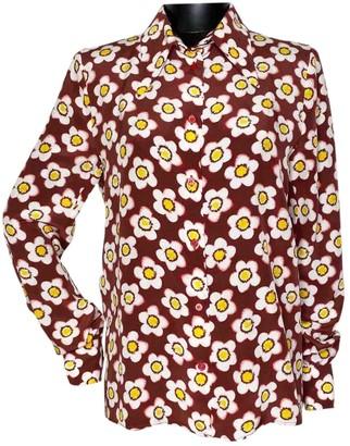 Miu Miu Burgundy Silk Top for Women