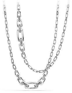 David Yurman Wellesley Link Chain Necklace with Diamonds