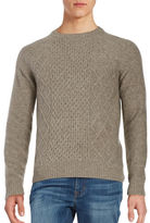 Black Brown 1826 Cableknit Wool-Blend Sweater