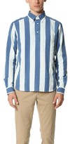 Gant Indigo Oxford Block Stripe Popover
