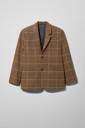 Weekday Filip Checked Suit Jacket - Beige