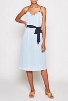 Joie Talei Eyelet Belted Midi Dress