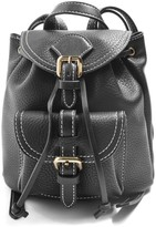 Topshop Bruno Super Mini Faux Leather Backpack - Black