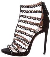Alaia Embellished Cage Sandals