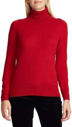 Chaps Petite Turtleneck Cotton Sweater