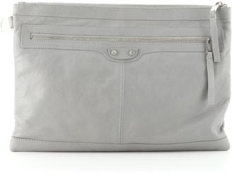 Balenciaga Classic City Clip Pouch Leather Large