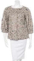 Alberta Ferretti Linen Patterned Jacket