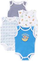 Sweet & Soft Blue Monkey Sleeveless Bodysuit Set - Infant