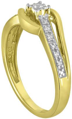 MODERN BRIDE 1/10 CT. T.W. Diamond 10K Yellow Gold Wave Promise Ring