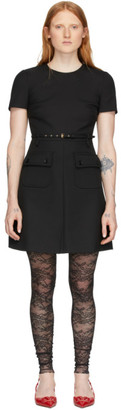 RED Valentino Black Front Pockets Dress