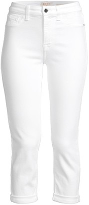 JEN7 by 7 For All Mankind Crop & Roll Straight-Leg Jeans