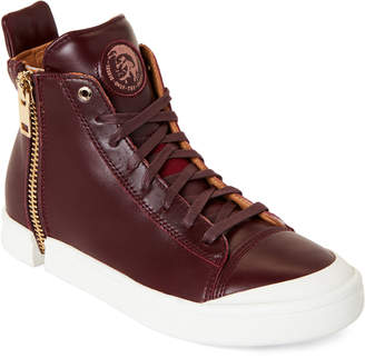 Diesel Bordeaux S-Nentish Zip-Around High-Top Sneakers