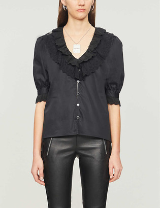 The Kooples Lace-detail cotton shirt