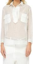 Max Studio Cotton Voile Pullover Top