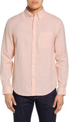 Club Monaco Slim Fit Jaspe Linen Button-Down Shirt