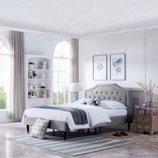 Christopher Knight Home Elinor Upholstered Queen Platform Bed