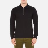 Gant Rugger Zipped Pique Polo Shirt Black