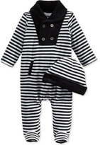 First Impressions 2-Pc. Striped Hat & Footed Coverall Set, Baby Boys (0-24 months), Only at Macy's
