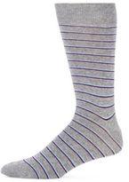 Saks Fifth Avenue Stripe Cotton Blend Socks