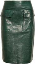 3.1 Phillip Lim Textured-leather skirt