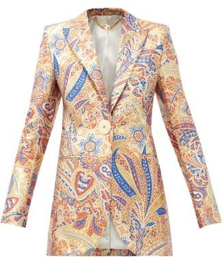 Paco Rabanne Paisley-jacquard Lurex Jacket - Gold Multi