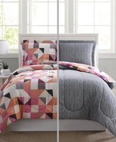 Pem America Casey Reversible 3-Pc. King Comforter Mini Set