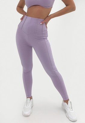 Missguided Lilac Co Ord Corset Detail Leggings