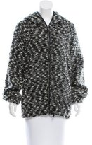 Etoile Isabel Marant Leather-Trimmed Wool-Blend Jacket