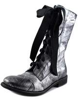 Emma Lou Ankle Boots Pointed Toe Leather Mid Calf Boot.
