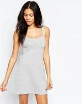 Brave Soul Striped Jersey Flippy Dress