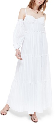 CAMI NYC The Cora Cold Shoulder Long Sleeve Maxi Dress