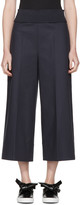 Cédric Charlier Navy Wide-leg Trousers