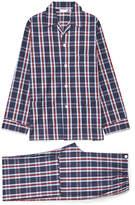 Derek Rose Barker 10 Navy Check Cotton Pyjama Set
