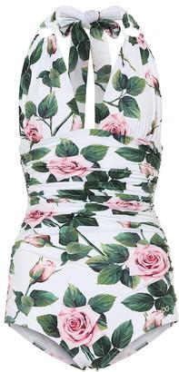 Dolce & Gabbana Floral halter swimsuit