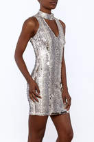 Olivaceous Sequin Dress