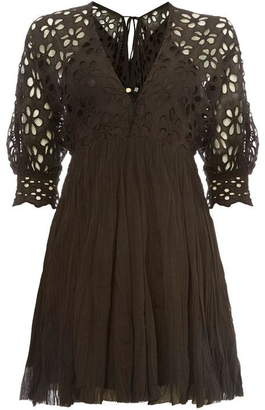 Free People Bella Note Crochet Mini Dress