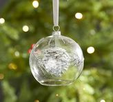 Pottery Barn Glass Ball with Pinecone Ornament