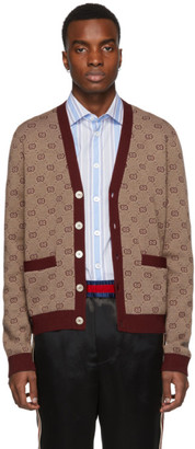 Gucci Red GG Cardigan