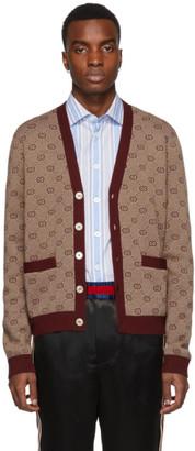 Gucci Red GG Cardigan