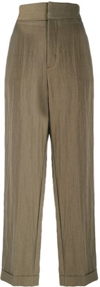 Masscob Crinkled Straight-Leg Trousers